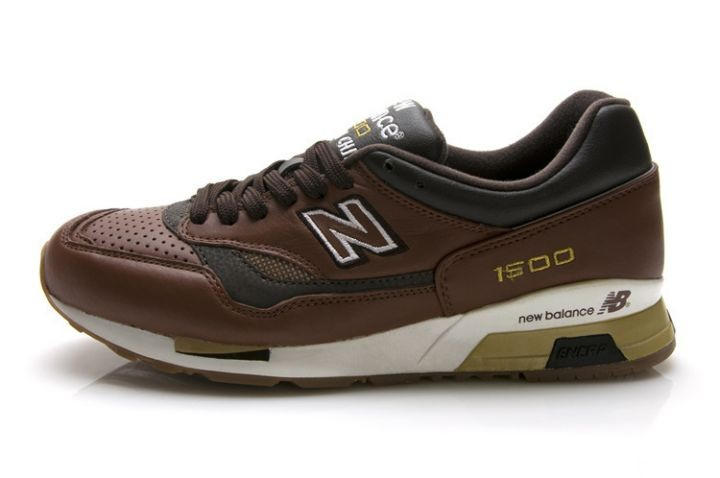 Outlet New Balance 1500 Pelle Marrone Charcoal Olive Bianco Uomo ...