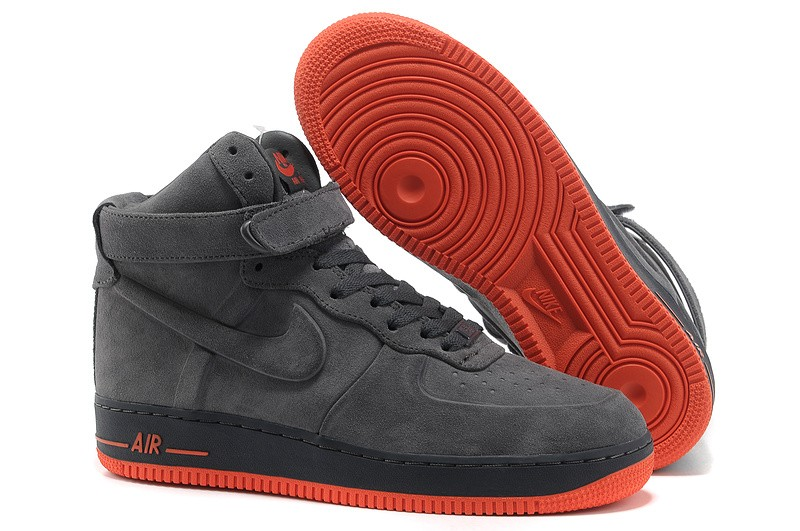 Offerte Sconti Nike Air Force 1 High Uomo Top Coal Nere